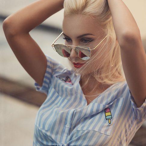 Retro fashion street style Eva Plesnik