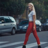 Retro fashion street style Eva Plesnik